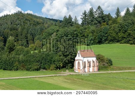 An image of the remaining building of the monastery Tennenbach, Germany