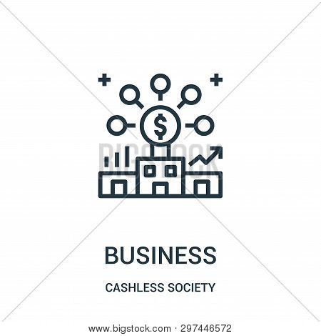 Business Icon Isolated On White Background From Cashless Society Collection. Business Icon Trendy An