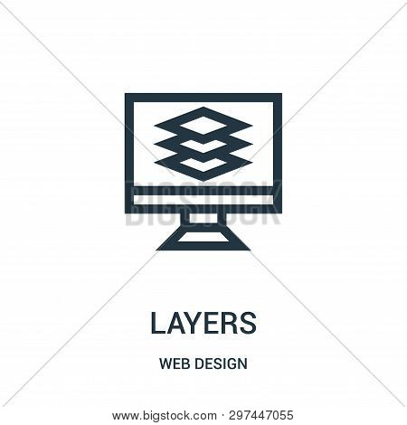 Layers Icon Isolated On White Background From Web Design Collection. Layers Icon Trendy And Modern L