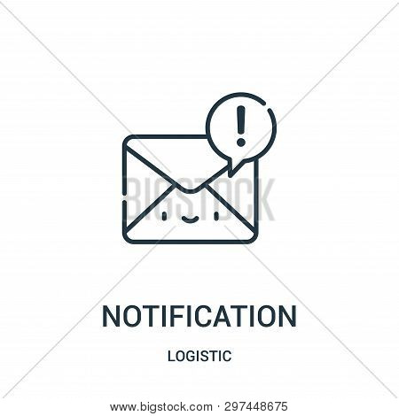Notification Icon Isolated On White Background From Logistic Collection. Notification Icon Trendy An