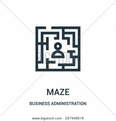 Maze Icon Isolated On White Background From Business Administration Collection. Maze Icon Trendy And