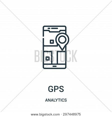 Gps Icon Isolated On White Background From Analytics Collection. Gps Icon Trendy And Modern Gps Symb