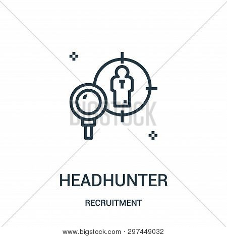 Headhunter Icon Isolated On White Background From Recruitment Collection. Headhunter Icon Trendy And