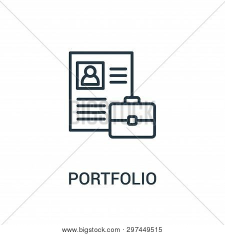 Portfolio Icon Isolated On White Background From Agile Collection. Portfolio Icon Trendy And Modern