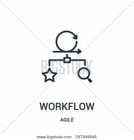 Workflow Icon Isolated On White Background From Agile Collection. Workflow Icon Trendy And Modern Wo