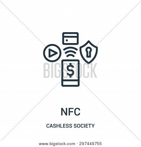 Nfc Icon Isolated On Vector & Photo (Free Trial) | Bigstock