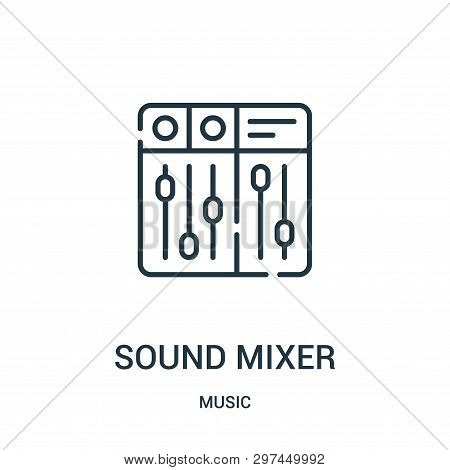 Sound Mixer Icon Isolated On White Background From Music Collection. Sound Mixer Icon Trendy And Mod