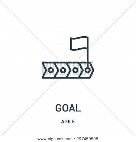 Goal Icon Isolated On White Background From Agile Collection. Goal Icon Trendy And Modern Goal Symbo