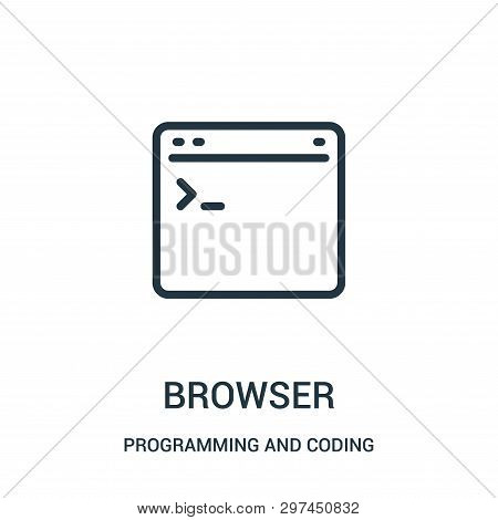 Browser Icon Isolated On White Background From Programming And Coding Collection. Browser Icon Trend