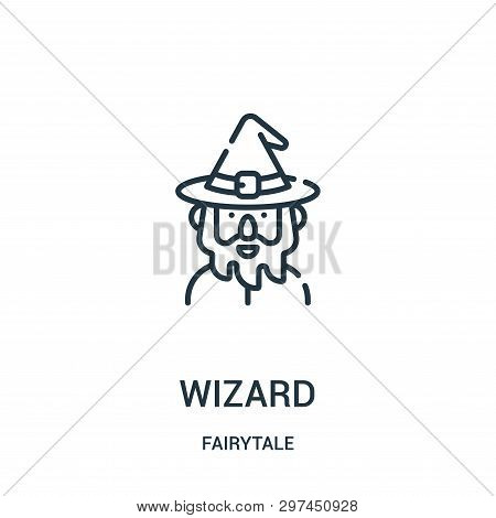 Wizard Icon Isolated On White Background From Fairytale Collection. Wizard Icon Trendy And Modern Wi