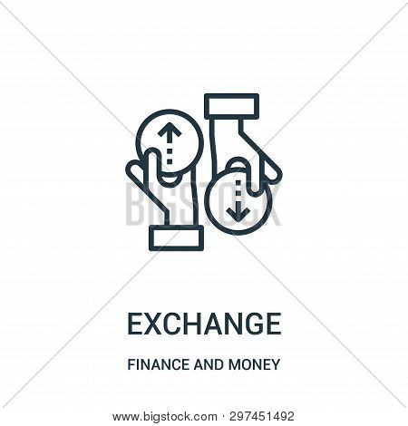 Exchange Icon Isolated On White Background From Finance And Money Collection. Exchange Icon Trendy A