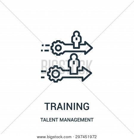 Training Icon Isolated On White Background From Talent Management Collection. Training Icon Trendy A