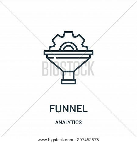 Funnel Icon Isolated On White Background From Analytics Collection. Funnel Icon Trendy And Modern Fu