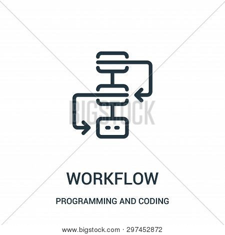 Workflow Icon Isolated On White Background From Programming And Coding Collection. Workflow Icon Tre