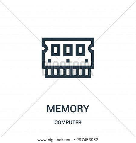 Memory Icon Isolated On White Background From Computer Collection. Memory Icon Trendy And Modern Mem