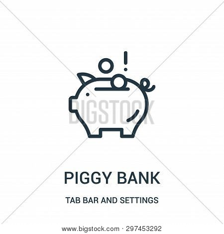 Piggy Bank Icon Isolated On White Background From Tab Bar And Settings Collection. Piggy Bank Icon T