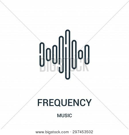 Frequency Icon Isolated On White Background From Music Collection. Frequency Icon Trendy And Modern