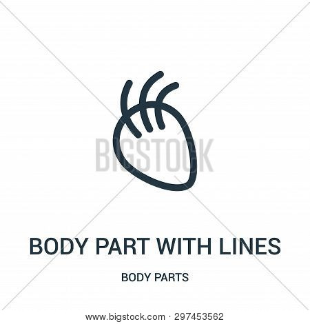 Body Part With Lines Icon Isolated On White Background From Body Parts Collection. Body Part With Li