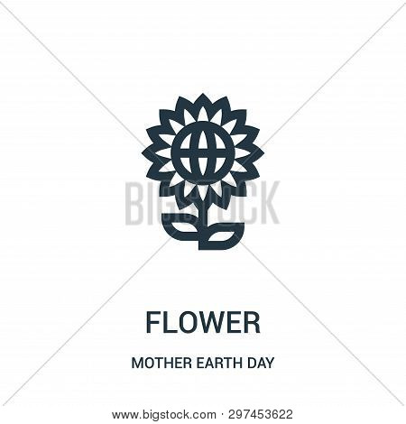 Flower Icon Isolated On White Background From Mother Earth Day Collection. Flower Icon Trendy And Mo