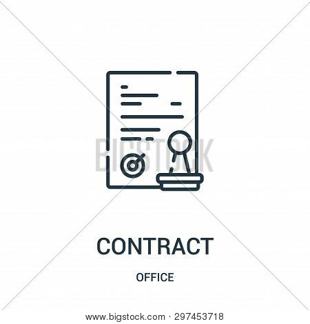 Contract Icon Isolated On White Background From Office Collection. Contract Icon Trendy And Modern C