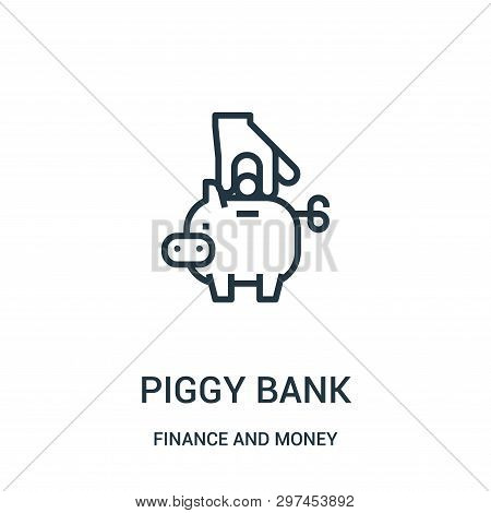 Piggy Bank Icon Isolated On White Background From Finance And Money Collection. Piggy Bank Icon Tren