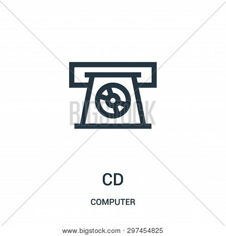 Cd Icon Isolated On White Background From Computer Collection. Cd Icon Trendy And Modern Cd Symbol F