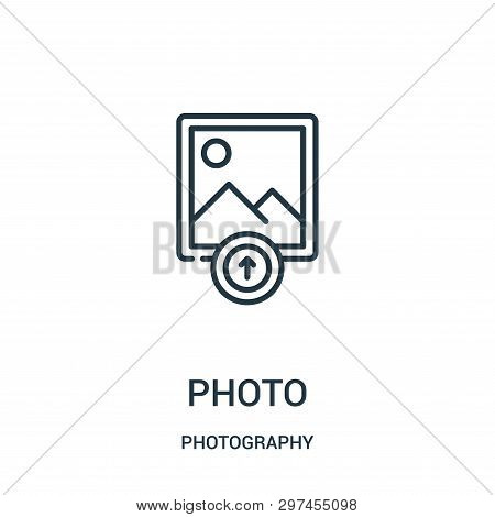 Photo Icon Isolated On White Background From Photography Collection. Photo Icon Trendy And Modern Ph