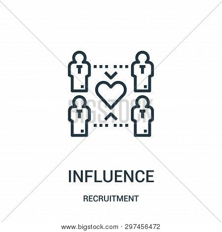 Influence Icon Isolated On White Background From Recruitment Collection. Influence Icon Trendy And M