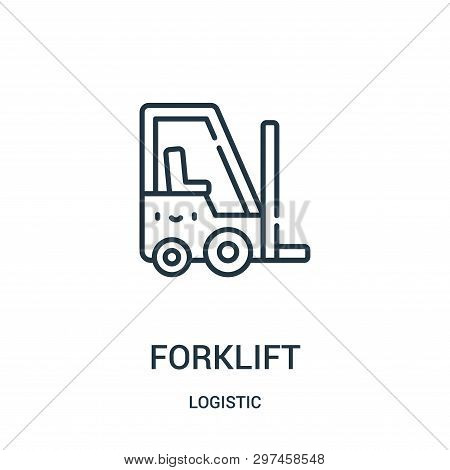 Forklift Icon Isolated On White Background From Logistic Collection. Forklift Icon Trendy And Modern