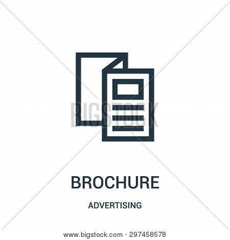 Brochure Icon Isolated On White Background From Advertising Collection. Brochure Icon Trendy And Mod