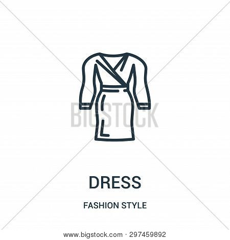 Dress Icon Isolated On White Background From Fashion Style Collection. Dress Icon Trendy And Modern