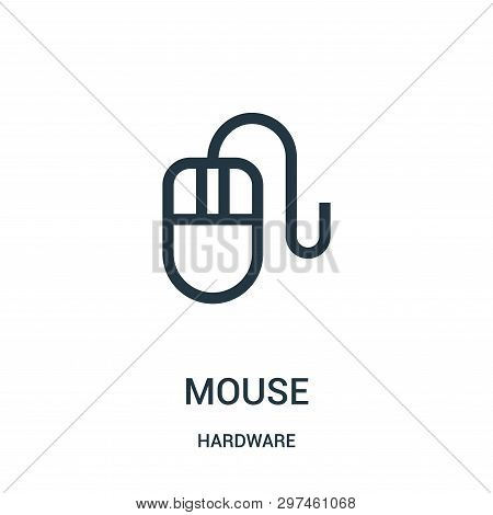 Mouse Icon Isolated On White Background From Hardware Collection. Mouse Icon Trendy And Modern Mouse