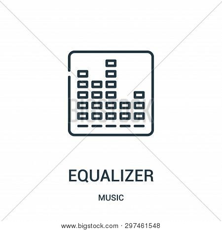 Equalizer Icon Isolated On White Background From Music Collection. Equalizer Icon Trendy And Modern
