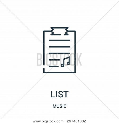 List Icon Isolated On White Background From Music Collection. List Icon Trendy And Modern List Symbo