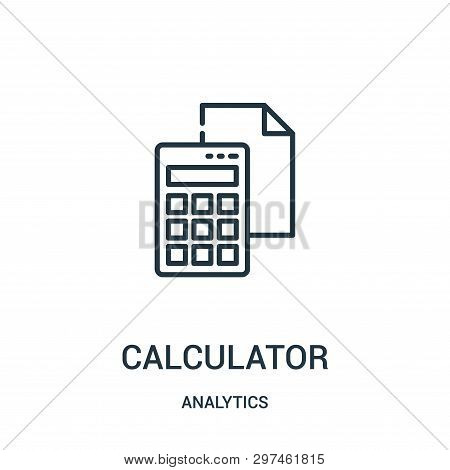 Calculator Icon Isolated On White Background From Analytics Collection. Calculator Icon Trendy And M
