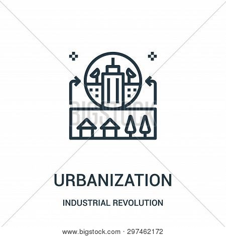 Urbanization Icon Isolated On White Background From Industrial Revolution Collection. Urbanization I