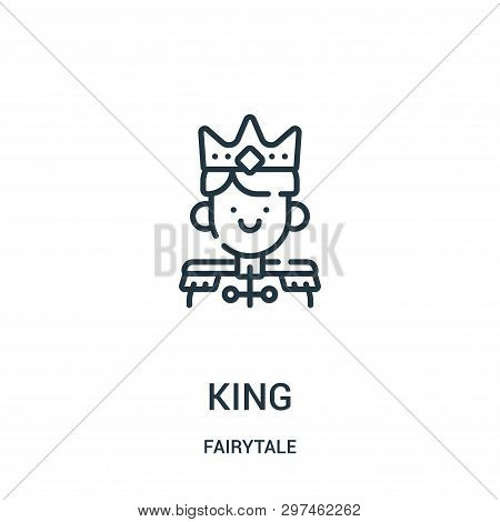 King Icon Isolated On White Background From Fairytale Collection. King Icon Trendy And Modern King S