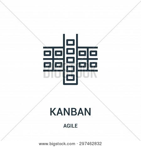 Kanban Icon Isolated On White Background From Agile Collection. Kanban Icon Trendy And Modern Kanban