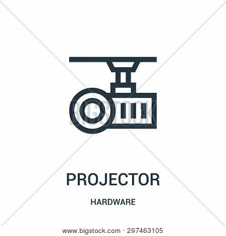 Projector Icon Isolated On White Background From Hardware Collection. Projector Icon Trendy And Mode