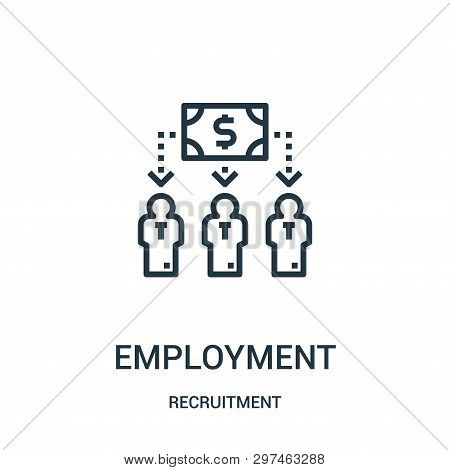 Employment Icon Isolated On White Background From Recruitment Collection. Employment Icon Trendy And