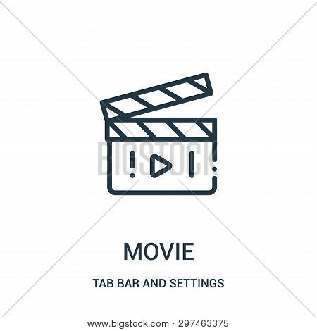 Movie Icon Isolated On White Background From Tab Bar And Settings Collection. Movie Icon Trendy And