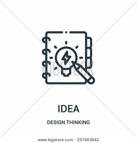 Idea Icon Isolated On White Background From Design Thinking Collection. Idea Icon Trendy And Modern