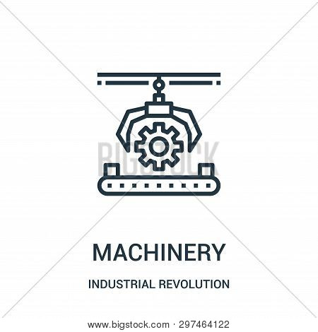 Machinery Icon Isolated On White Background From Industrial Revolution Collection. Machinery Icon Tr