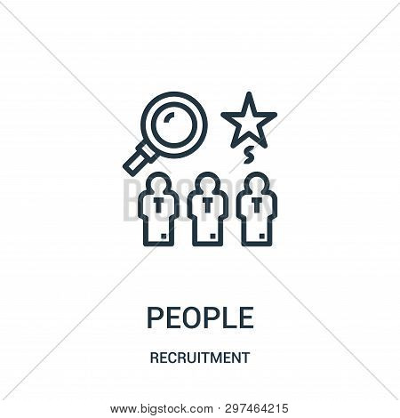 People Icon Isolated On White Background From Recruitment Collection. People Icon Trendy And Modern