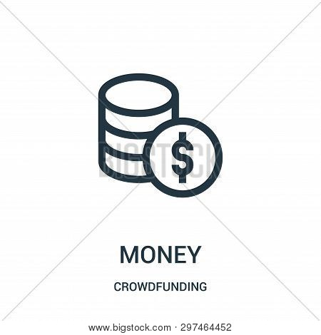 Money Icon Isolated On White Background From Crowdfunding Collection. Money Icon Trendy And Modern M