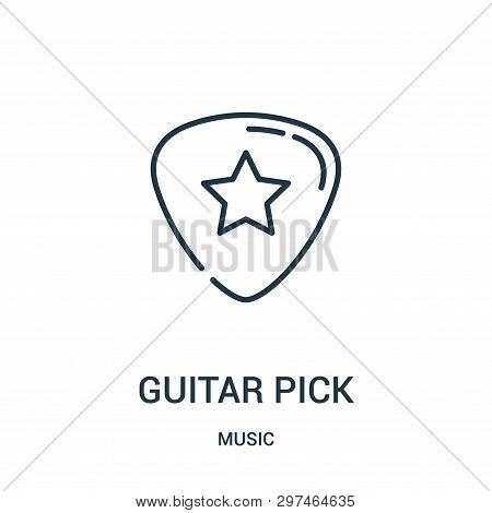 Guitar Pick Icon Isolated On White Background From Music Collection. Guitar Pick Icon Trendy And Mod