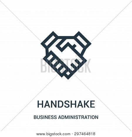Handshake Icon Isolated On White Background From Business Administration Collection. Handshake Icon