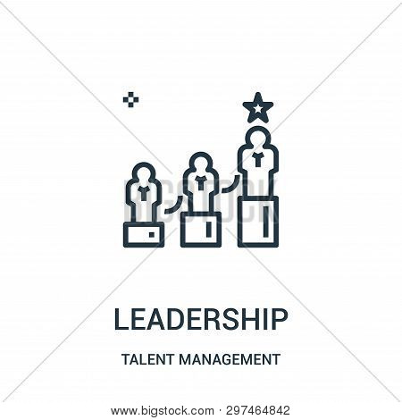 Leadership Icon Isolated On White Background From Talent Management Collection. Leadership Icon Tren