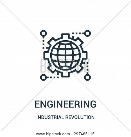 Engineering Icon Isolated On White Background From Industrial Revolution Collection. Engineering Ico