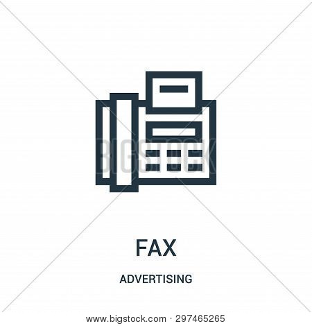 Fax Icon Isolated On White Background From Advertising Collection. Fax Icon Trendy And Modern Fax Sy
